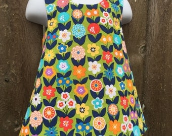 Crossback Top --- All the Flowers - Reversible Pinafore