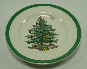 "Spode England S3324 Christmas Tree Bread And Butter / Desert Plate 6 1/2"""