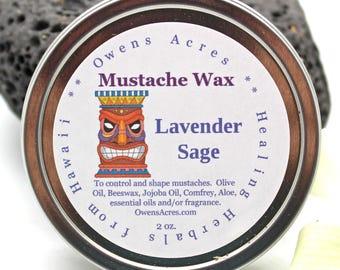 Mustache Wax, 4 Scents, Handmade, All Natural - Mustache Wax, Beard, Men, Shaving, Gifts for Men, Grooming