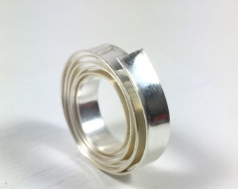 smooth Bezel Wire, 3 ft Fine Silver, 3/16 x 26 gauge, .999, bezel setting wire, for thicker stones, cabochons setting,