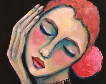 Dreaming of You - Original Portrait Painting