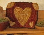 Primitive Heart Rug