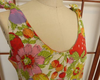 Handmade Vintage 60's Cotton Summer Shift Dress