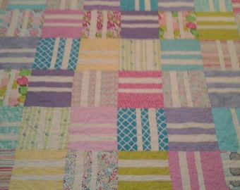 Bright colored  queen size quilt