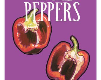 "Bell Pepper Illustration Print - 5"" x 6"""
