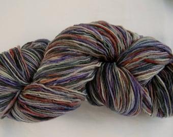 """PLAIN & FANCY Hand Dyed Fine Wool Yarn """"Purple Mountains"""""""