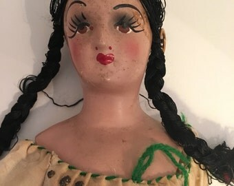 Mexican Doll Antique circa 1930's Authentic