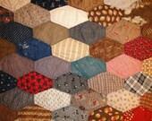 Vintage Quilt Piece   Old Quilt Piece   Antique Quilt Piece   Cutter Quilt Piece   18 x 24