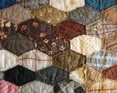 Vintage Quilt Piece | Old Quilt Piece | Antique Quilt Piece | Cutter Quilt Piece | 17 x 22.5