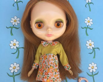 Sunshine of Your Love dress for Blythe Dolls