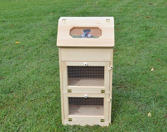 amish handcrafted solid pine bread box and 2 door vegetable bin
