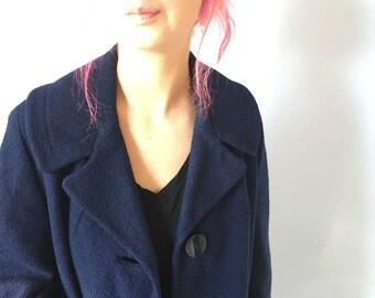 Vintage Wool Coat - Brentshire Botany Long Dress Coat - Small - Medium