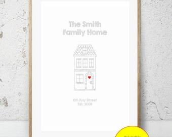 JPEG - Printable - New Home - House - Couple - House Warming - Home - Custom - DIY Print - #2