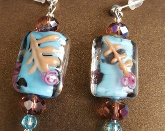 Asian Inspired Turquoise Earrings