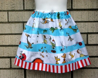 "Dr Seuss inspired ""What Pet Do We Get"" girls skirts, 6M to size 8"