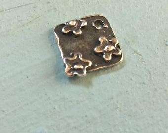 Tiny Flower Charm Sterling Silver
