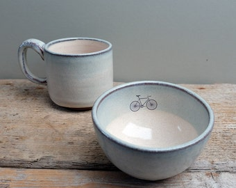Road Bike Cereal Bowl