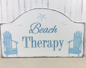 Beach therapy custom sign, realtor housewarming, retirement gift, Mother's Day or Father's day  gift, vacation home,  lake cabin or cottage