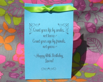 Adult Birthday Party - Birthday Favors - Party Favors 60th Birthday - Adult Favor Boxes - Adult Candy Box - 60th Birthday Favor - Favor Box
