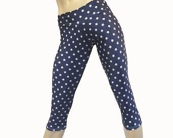 Yoga Pants - Workout Clothes - Hot Yoga -TIghts - Fitness - Star Pants - Superhero - Low Rise - Capri - SXY Fitness - Handmade - USA -