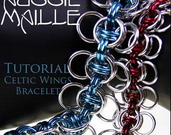 Chain Maille  Tutorial - Celtic Wings Bracelet
