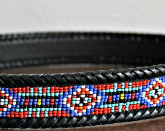 Western Beaded Belt, cowgirl,country western, beaded leather belt, southwestern belt