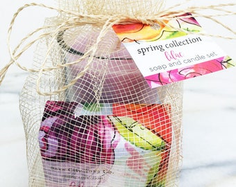 Lilac Soap and Candle Set | Spring Collection | Gifts | Women