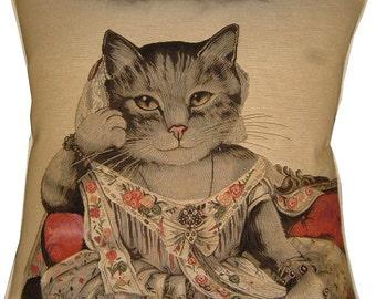 Susan Herbert Jayne Cat Tapestry Cushion Cover Sham