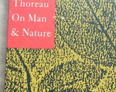 Thoreau On Man and Nature Hardcover book