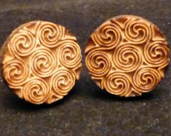 Celtic Swirl Wooden Earrings