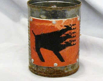 Tin can cerberus mug