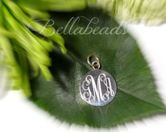 Small Hand Stamped Sterling Silver Charm