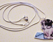 Kewpiedoodle Puppy Necklace - Shrink Plastic - Kitsch