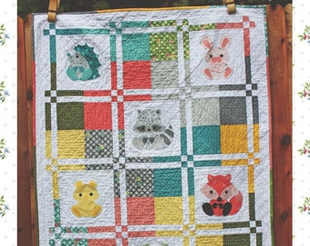 Woodland Critters Baby Quilt and Nursery Decor PDF Pattern