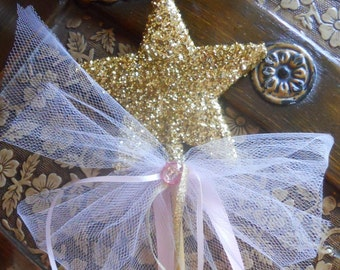 Will You Be My Godmother? Pink and Gold Wand
