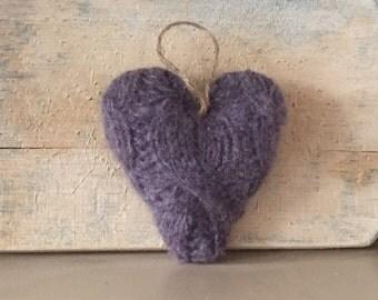 Purple Valentine Heart Ornament, Valentine's Day Ornament, Valentines Decor, Valentines Heart