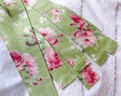 RESERVED FOR KIMBERLY - Pink Roses Market Cart Ties - Custom Order