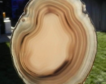 SC-269   Fully Polished Agate Suncatcher Home Decor All Occasion Gift