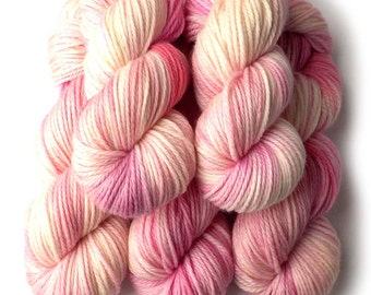 ACLU Aran SW Merino, Cashmere and Nylon Yarn - Pink Blossom, 180 yards