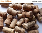 YEAR END SALE Used wine corks for upcycling - 25