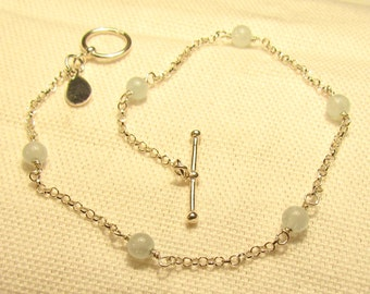Aquamarine Ball Bracelet
