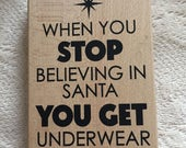 FUNNY New rubber stamp - Christmas underwear