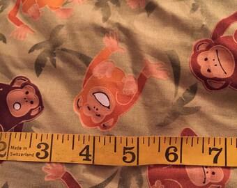 Half Yard of Monkey Fabric