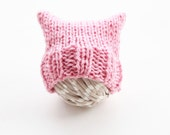 Newborn pink pussyhat, pink pussyhat for baby, pink cat hat with ears, women's march hat, pink pussy cat hat, pink beanie, pussyhat project