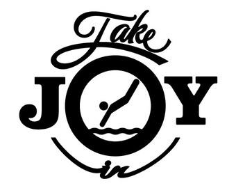 Take Joy In Diving Decal