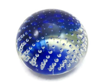 Murano Glass Paperweight - Archimede Seguso Italy Controlled Bubble