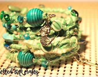 Mermaid Treasures Memory Wire Bracelet
