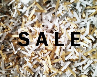 SALE - Eco Paper Confetti for Wedding Toss, Bar, Send Off! White + 2 Colors: Blush Pink, Gold, Dark Gold, Silver - Biodegradable