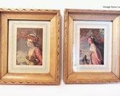 Vintage Framed Portrait Print Wall Art Set