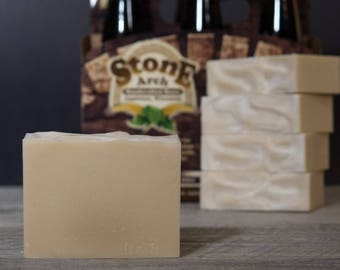 Houdini Honey Wheat Beer Soap | Natural  Soap | WI Honey | Beer Soap | Stone Arch Beer | Gifts for Men | Fatty's Soap Co.
